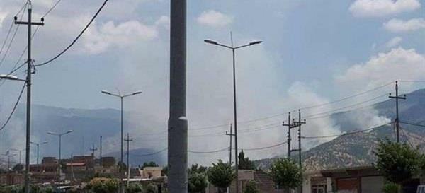 توپباران بخشی از نوار مرزی خاک اقلیم کردستان عراق با کردستان ایران و تعدادی از پایگاه های حزب کومه له کردستان ایران توسط سپاه پاسداران