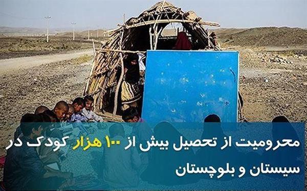 بیش از 100 هزار کودک در مقاطع مختلف در سیستان و بلوچستان از تحصیل بازمانده اند