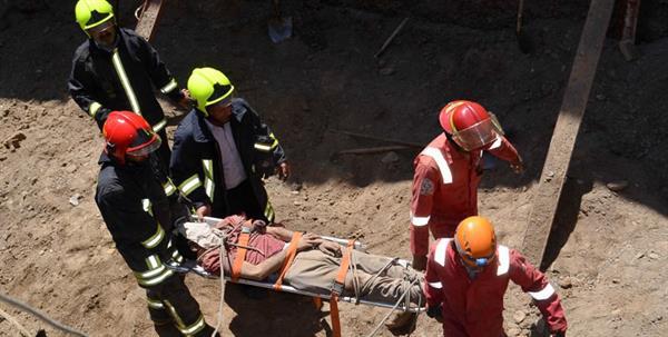 در سایه فقدان ایمنی چهار کارگر در مهاباد به شدت مصدوم شدند