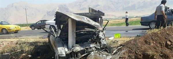 حوادث/ تصادف زنجیره ای در کرمانشاه یک کشته و پنج مصدوم برجای گذاشت