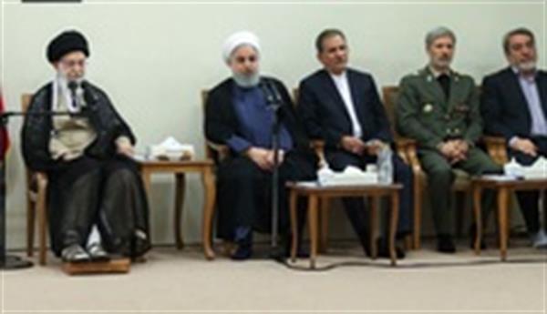 دیدار اخیر خامنه ای با هیئت دولت و گفتگو پیرامون برنامه های رژیم برای ادامه ی بقا