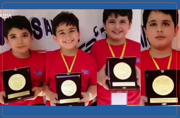 موفقیت چهار دانش آموز کُرد روانسری در مسابقات ذهنی ریاضی در تهران