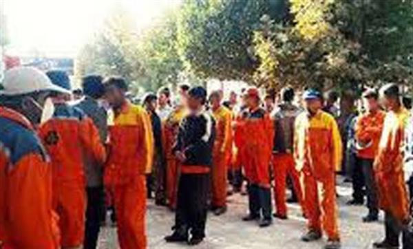 تجمع اعتراضی کارگران شهرداری ارومیه