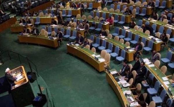 صندلی های خالی و سخنان متناقض روحانی در مجمع عمومی سازمان ملل متحد