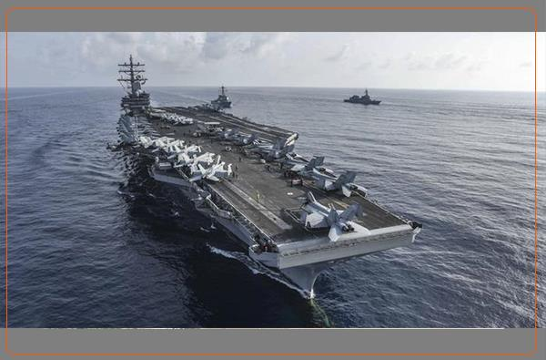 رزمایش ناوهای هواپیما بر آمریکا در دریای جنوبی چین