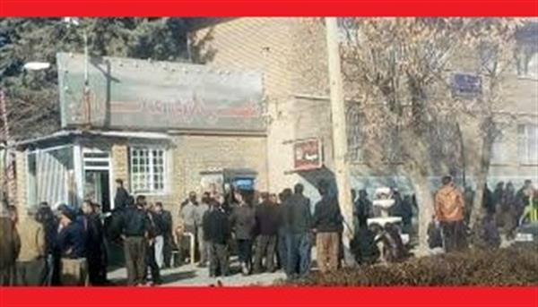 تجمع اعتراضی کارگران شهرداری مریوان